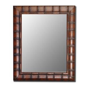 - Hitchcock Butterfield Fruitwood Bamboo Framed Wall Mirror, 27