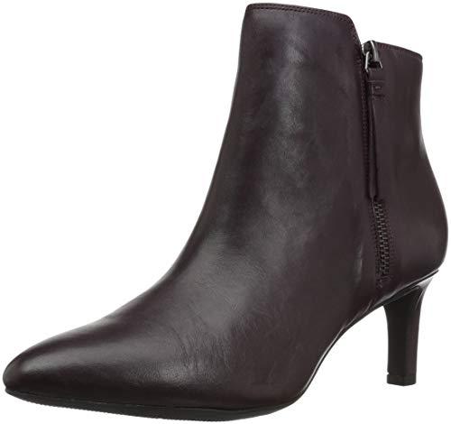 Boot Calla Leather CLARKS Women's Blossom Fashion Aubergine wUfIAagAqx