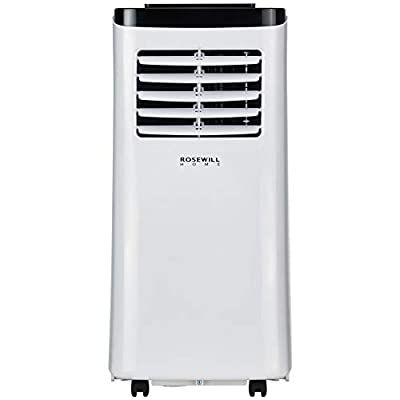 Rosewill Portable Air Conditioner 8000 BTU, AC Fan & Dehumidifier 3-in-1 Cool/Fan/Dehumidify w/Remote Control, Quiet Energy Efficient Self Evaporation AC Unit for Single Room Use, RHPA-18001