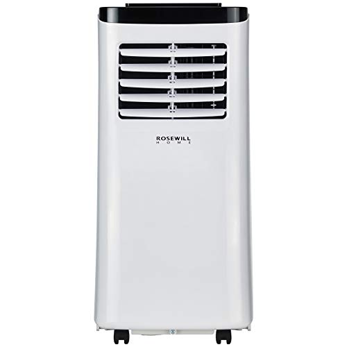 Rosewill Portable Air Conditioner 8000 BTU, AC Fan & Dehumidifier 3-in-1 Cool/Fan/Dehumidify w/Remote Control, Quiet Energy Efficient Self Evaporation AC Unit for Single Room Use, RHPA-18001 ()