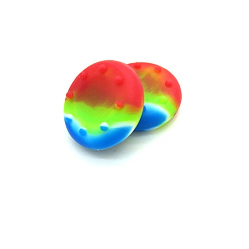 2 x Rainbow Controller Analog Thumbstick Grip Cover Caps For Sony PS3 PS4 XBOX ONE 360 Wii U (Ps3 Controller Rainbow)