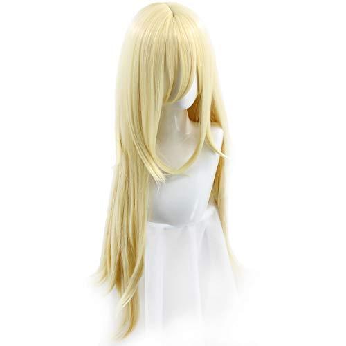 Long Blonde Rachel Wig Halloween Cosplay Costume Wig for Women 37in/95CM