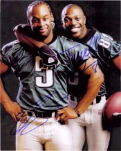 Terrell Owens 8x10 Photo (Signed Eagles, Philadelphia (Terrell Owens / Donovan McNabb) 8x10 By Terrell Owens and Donovan McNabb autographed)