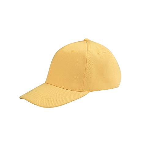 Unisex Polo Baseball Hat,Crytech Cotton Classic Plain Adjustable Ballcap Low Profile Dad Cap Sun Visor Hat for Women Men Outdoor Running Cycling Hiking Golf (Yellow)