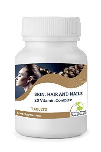 Piel, Pelo y Uñas 20 Vitamina Complejo Vitarenew Suplemento Alimenticio 30/60/90