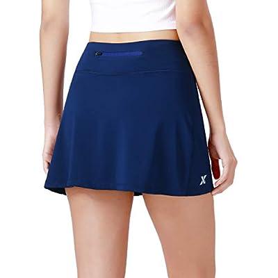 XGEAR Women's Athletic Skirt Tennis Skort with Pockets for Running Training Tennis Golf: Clothing