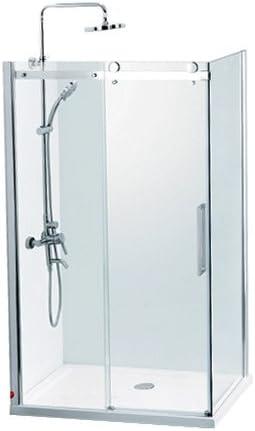 Gimnasio-ducha Sanotechnik con 1 puerta corredera - Dimensiones: 140 x 90 x 195 cm: Amazon.es: Bricolaje y herramientas