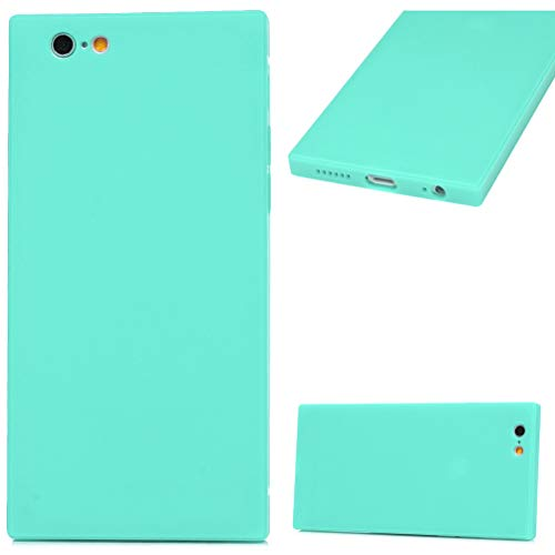 iPhone 6S Plus Case, Matte Square Soft TPU Case Pure Candy Color Design Slip Resistant Soft Flexible Shock-Absorption TPU Shell Ultral Slim Lightweight Bumper Silicone TPU Cover for iPhone 6 Plus