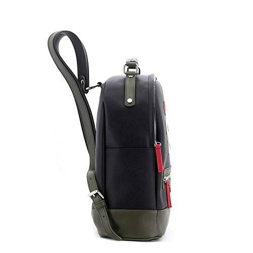 Women's Bag Green And Beige Davidelfin Top handle Black Uwg8z