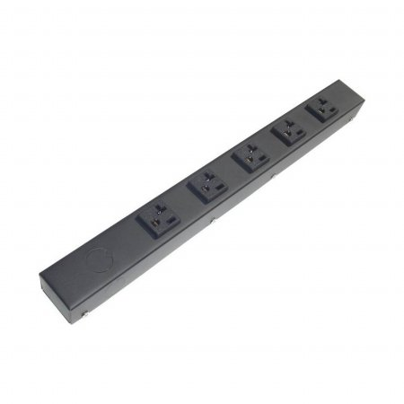 e-dustry EPS-HT01605NV 5 20A Outlet Hardwired Power Strip - 16 in.