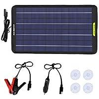 ECO-WORTHY 12 voltios 5 vatios 10 vatios 120 vatios Energía del Panel Solar portátil Cargador de batería de Respaldo…
