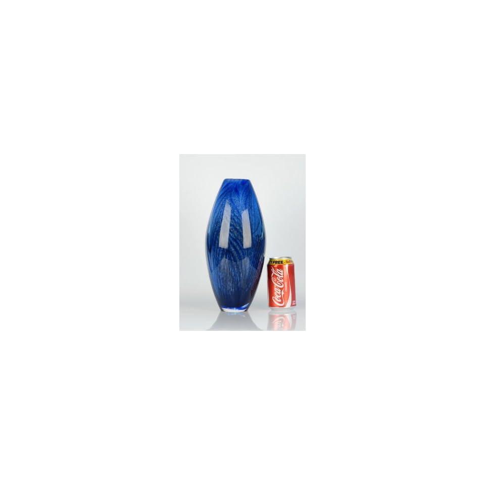 Beautiful Heavy Handblown Art Glass Vase L308