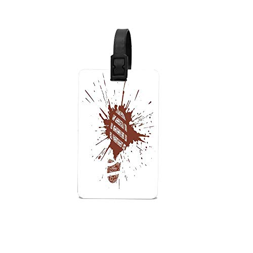 PoppyAnthony White Shoe Grunge Footprint in Splatter Mud Impression Paint Sole Action Blood Boot Cunstom Luggage Bag Tags Travel Tags Travel ID Tag]()