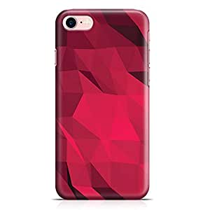 Loud Universe Geometrical Pattern New Transparent Edge Durable Wrap Around iPhone 7 Case - Red