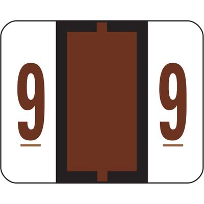 SMD67379 - Smead 67379 Brown BCCRN Bar-Style Color-Coded Numeric Label - 9
