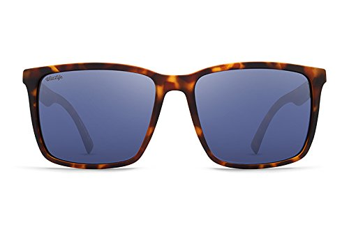 VonZipper Unisex Lesmore Polar Tortoise Satin/Wild Slate Grey Polar - Sunglasses On Logo Your