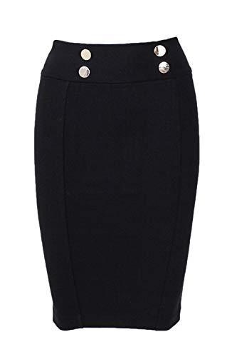 GUILLERMINA Femme Noir K54I0 Guess W83D16 Jupe Skirt q15nE5