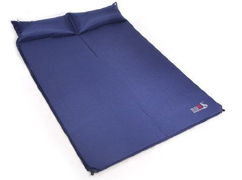 LivingComfort Double Outdoor Automatic Blow-up inflating Damp proof Sleeping Camping Mat Mats (Sapphire)