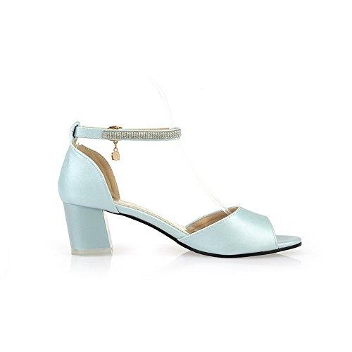 1TO9 Girls Glass Diamond Kitten-Heels Polyurethane Sandals Blue CJnwA