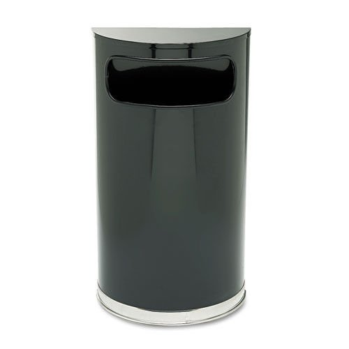 Rubbermaid Commercial SO820BPL European & Metallic Series Receptacle, Half-Round, 9gal, (Chrome Round Wastebasket)