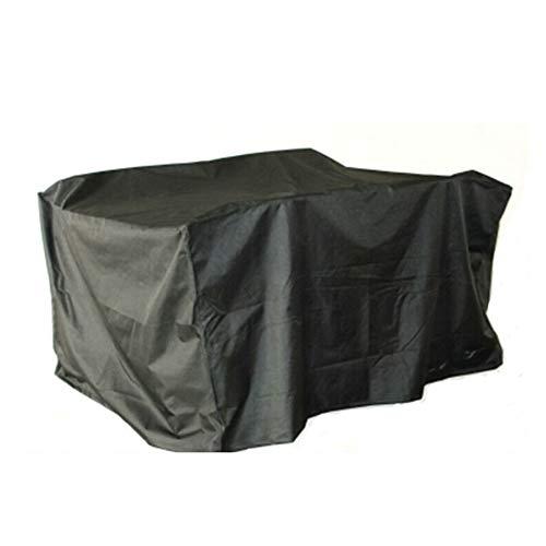 (GH PENGBU - Multifunction Garden Furniture, Tarpaulin, Rattan, Table And Chair, Firewood, Dustproof, Sunscreen (Color : BLACK, Size :)