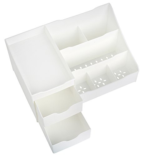 Mantello Makeup Organizer Vanity Organizer with Drawers, White by Mantello (Image #3)