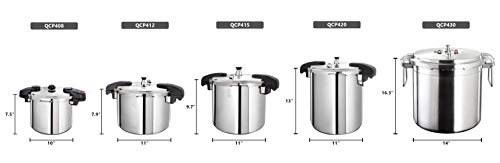 Buffalo-QCP408-8-Quart-Stainless-Steel-Pressure-Cooker-Classic-series