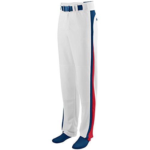 (Augusta Sportswear Boys' Slider Baseball Pant S White/Navy/Red )