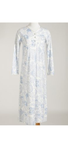 Moroccan Longsleeve Periwinkle Long Night Gown (Med)