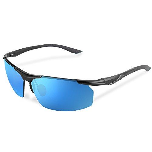 Raylix Sunglasses Sport Styles Sunglasses AL-MG Frame Premium Revo & Nano Anti-oil Lens Provide High Definition Vision for Motorcycle Cycling Driving Running Racing Skiing Climbing etc. - Sunglasses Matrix Style