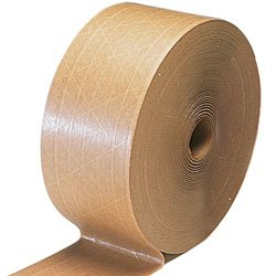 3'' x 450' Kraft Reinforced Water Activated Tape (10 Rolls) by Miller Supply Inc