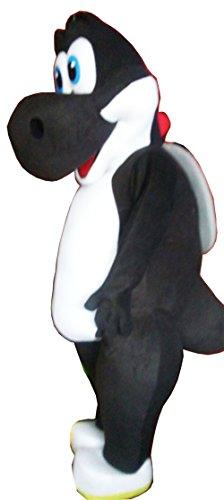 Black Yoshi Costume (Handmade Black Yoshi Mascot Costume Adult Costume / Delivery Time 3 to 4 Weeks)