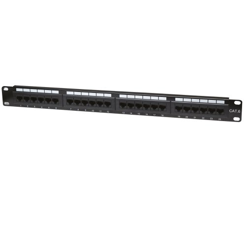 Intellinet 24-Port 1U Cat6 Patch Panel (520959)