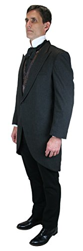 Traditional Mens Suit Coat (Historical Emporium Men's Traditional Cutaway Morning Coat 50L Charcoal)