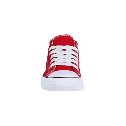 Mujer Zapatillas De Rojo Tela Elara Para zpqwIwWd