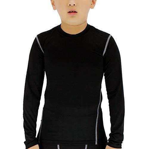 T-shirt Practice Youth Black (Lanbaosi Boys&Girls Long Sleeve Compression Soccer Practice T-Shirt (12, Black))