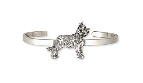 - Briard Jewelry Sterling Silver Briard Bracelet Handmade Dog Jewelry BRD1-CB