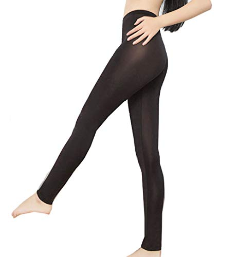 3867c7195cbc9 BgBisnlz Womens Semi See-Through Sheer Ice Silk Open Zip Crotch Leggings  Pants