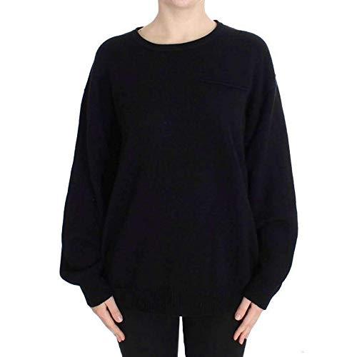 (Dolce & Gabbana Black Cashmere Crewneck Pullover)