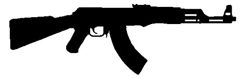 AK 47 Assault Rifle Black Decal Army Military Car Sticker