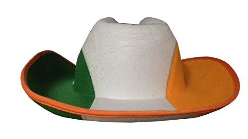 Sofias Closet Tri Colour St Patricks Irish Flag Cowboy Hat Paddys Day  Sports Party Stetson  Amazon.co.uk  Clothing 64bf8000bfe