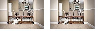 Carlson 68-Inch Wide Adjustable Freestanding Pet Gate, Premium Wood