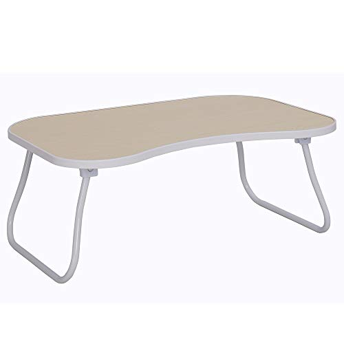 Home-Like Foldable Laptop Table Standing Bed Table Portable Floor Desk Breakfast Reading Tray Holder Outdoor Camping Table Serving Table Lightweight Lap Desk Mini Picnic Table (9.64''/White) (Tray Table Bed White)