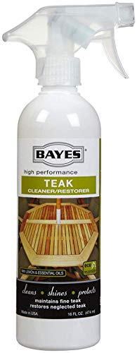 (Bayes High Performance Teak Cleaner & Restorer - Cleans, Shines, and Protects - Maintains Fine Teak and Restores Neglected Teak - 16 oz)