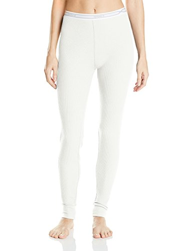 Hanes Women's  X-Temp Thermal Pant, Snow White, Small