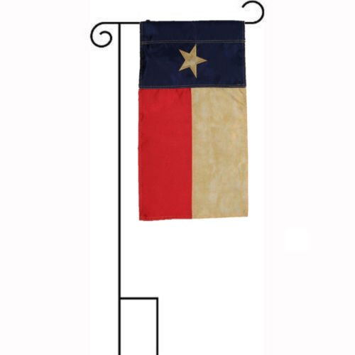Moon 12x18 Embroidered Texas Tea Stained Vintage Sleeved w/Garden Stand 12''x18'' Flag - Bright Color UV Resistant - Prime Outside Garden Cave Home (12' Vintage Flag)