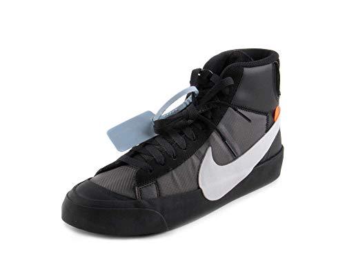 Nike Mens The 10 Blazer Mid Grim Reaper Black/White-Cone-Black Leather Size 10.5