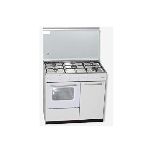 Cocina Gas ROMMER CH915B PB 5 Fuegos Horno Blanca: Amazon.es: Hogar