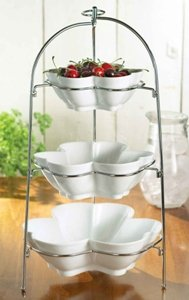 American Atelier 3 Tier Flower Shaped Bowl Set