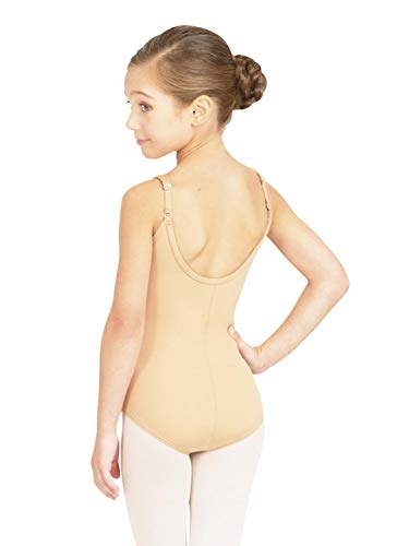 Capezio Big Girls' Team Basic Camisole Leotard W/Adjustable Straps,Nude,L (12-14)